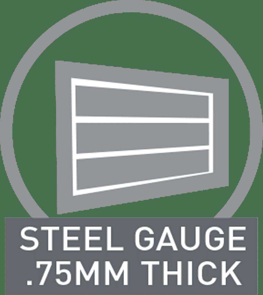 steel gauge 75mm thick